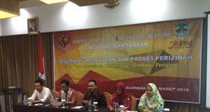 KPID Jawa Tengah menggelar diseminasi tata cara perizinan online bagi lembaga penyiaran selama dua hari, Kamis-Jum'at, 1-2 Maret 2018 di Pekalongan.