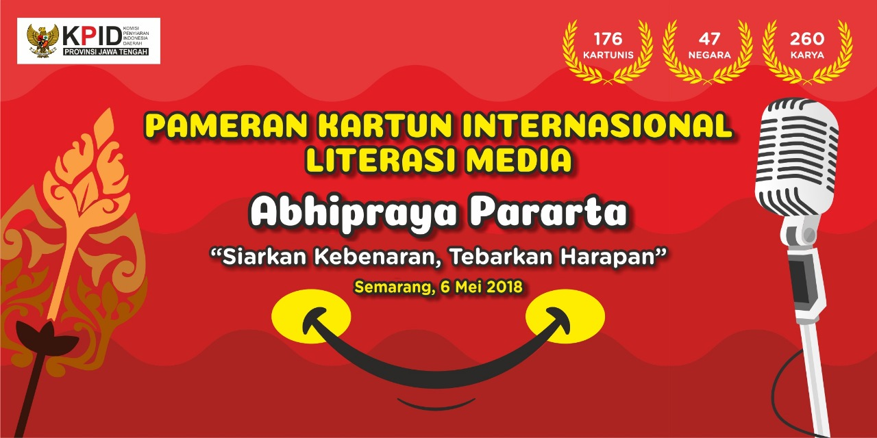 176 Kartunis Dari 47 Negara Ikuti Pameran Kartun Literasi Media